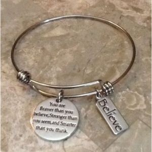 Jewelry - You are Braver than You Believe, Message Charm